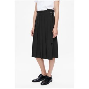 COS Pleated Wrap Skirt